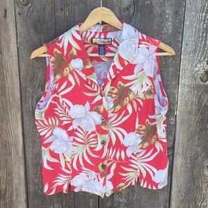 VTG Havana Jack's Cafe Hawaiian Sleeveless Top, M